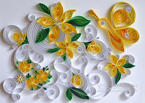 quilling , quilling paper, paper art, art, love, design, paper, flower, quilling flowers, lemonade, butterfly,