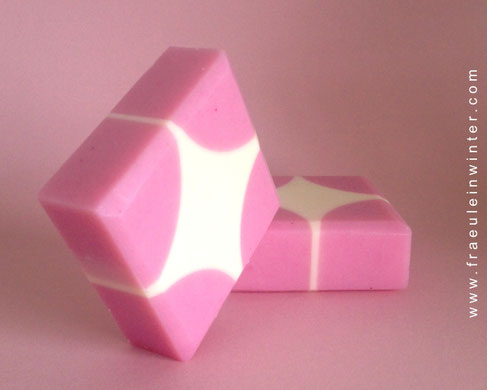 Handgemachte Seife - geometrisches Muster