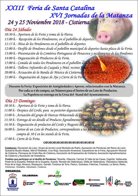 CISTIERNA Feria de Santa Catalina y Jornadas de la Matanza