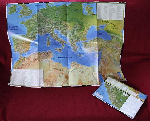Faltposter: Landkarte des Römischen Reichs und seiner Nachbarn im Jahr 211 n. Chr.