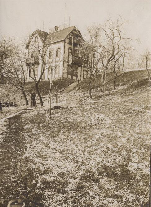 1896 erstes Haus am Philosophenweg
