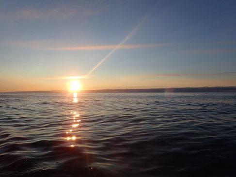 Barentssee. Mitternachtssonne. 68°9´N 40°21´E