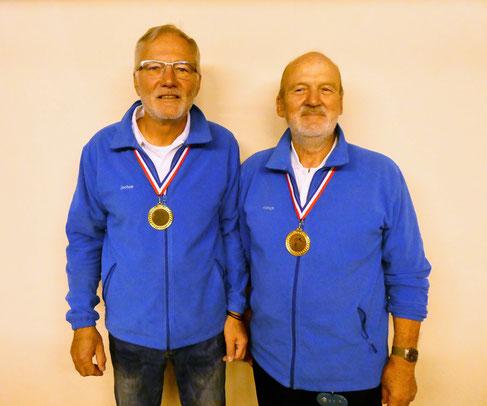 Vereinsmeister Doublette 2019 - Jochen Hess + Hinrich Lesch