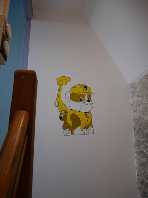 fresque-déco-chien
