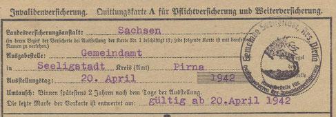 Bild: Siegel Seeligstadt um 1942