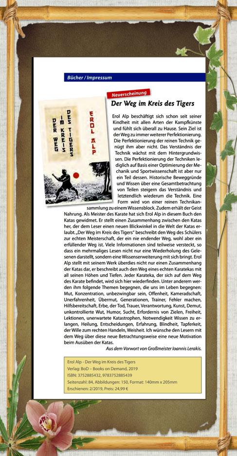 """Das Buch """"Der Weg im Kreis des Tigers"""" von Erol Alp im DDK-Magazin / Bücher / Seite 26"""
