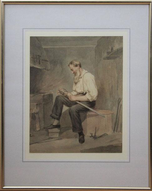te_koop_aangeboden_een_aquarel_van_de_kunstschilder_hendricus_johannes_scheeres_1829-1864_hollandse_romantiek