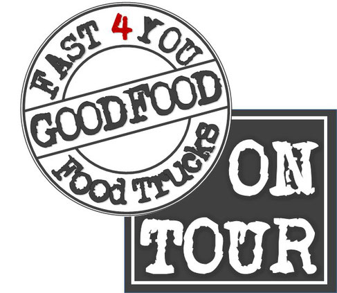 "GOODFOOD LOGO mit Slogan ""on Tour"""