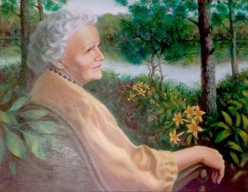 This painting of Elizabeth hangs in the adminstration building on the Meher Center, Myrtle Beach, SC.