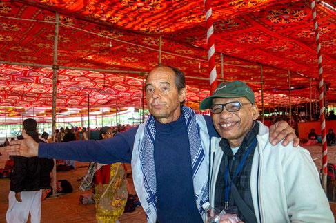 Peter with Vijay Bhalekar at the 2020 Amartithi celebrations