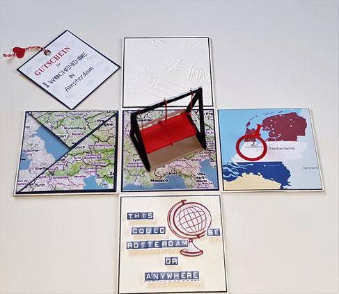 #Explosionsbox #Amsterdam #Gutscheinbox #Reisegutschein #Stempelliese.com