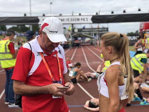 Julia Mayer Dsg wien Karl Sander Trainer laufen Läuferin Österreich beste jahresbeste Jahresbestleistung Geschichte ölv