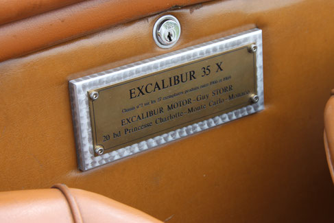 EXCALIBUR 35X PLAQUE LAITON VHC RALLYE COURSE COLLECTION