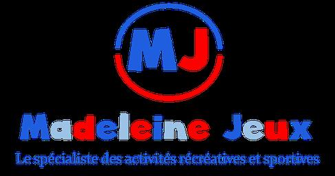 Logo Madeleine Jeux à Villefranche de Rouergue. Vente de matériel sportif et récréatif pour les enfants et handisports.