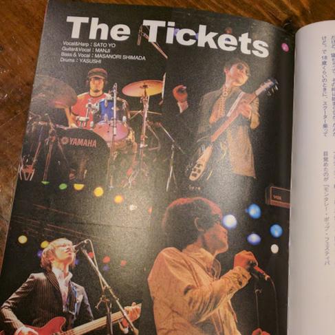 モッズ雑誌に掲載されたTheTicketsのLIVE写真