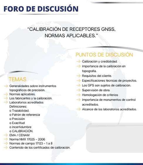CALIBRACION A RECEPTORES GPS FORO DE DISCUSION