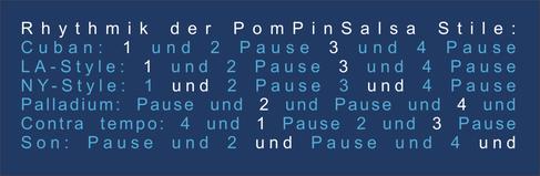 PomPinSalsa Rhythmus & Stil