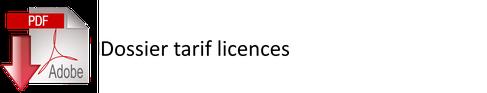 Dossier tarif licences à télécharger