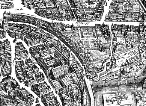Titelbild: Matthäus Merians Vogelschauplan von Frankfurt am Main (1628)