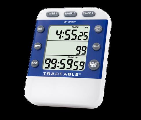 Timer contador de tres canales con certificado trazable a NIST 5008