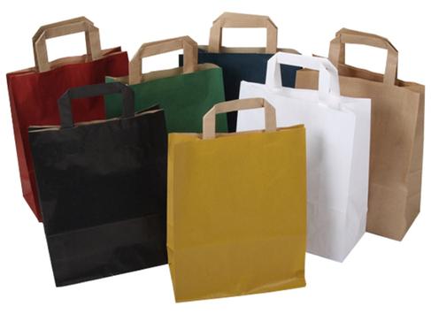 Papieren draagtassen in diverse kleuren en afmetingen - papieren tasjes nu gemakkelijk bestellen en kopen in onze webwinkel.
