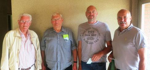 Die aufgelöste Tegernseer Mannschaft – wir werden euch vermissen.  v.l. Werner Wilke, Wolfgang Kokartis, Peter Seidler, Detlev Münnich