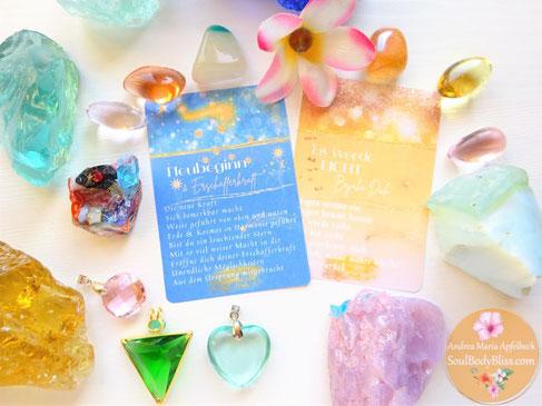 Andara Kristalle und Blessings Steine Lichtaktivierung Heilung