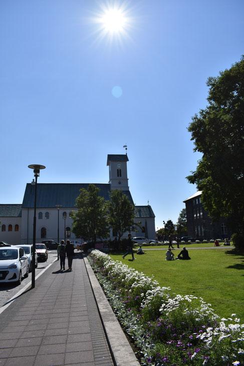 Es gibt sie tatsächlich: Sonne in Reykjavik
