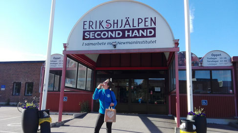 Raphaela Polk nach einem Arbeitstag im Erikshjälpen