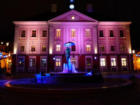 Das Rathaus in Tartu, Estland