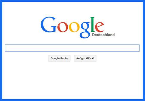 Bild Startfenster Google