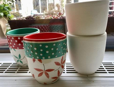 zitronengold - Keramik bemalen