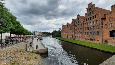 Alte Speicherhäuser in Lübeck an der Trave