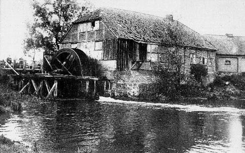Das Bild zeigt die Brockmühle im Jahre 1907