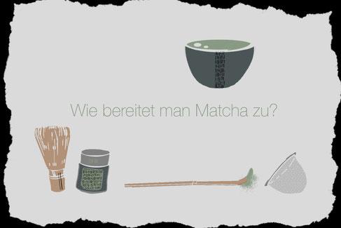 Matcha-Tee zubereiten