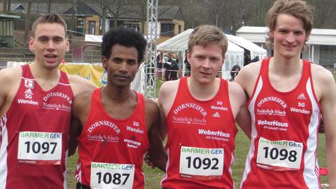 Bronzemedaille für v.l.: Simon Huckestein, Ejob Solomun, Marco Giese, Nils Schäfer