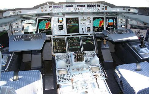 Blick in das Cockpit eines A 380