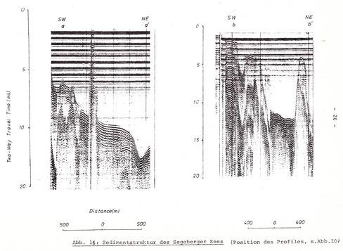 Die seismischen Profile aa' und bb' nach TSE im Jahre 1980, veröffentlicht in seiner Diplomarbeit 1983