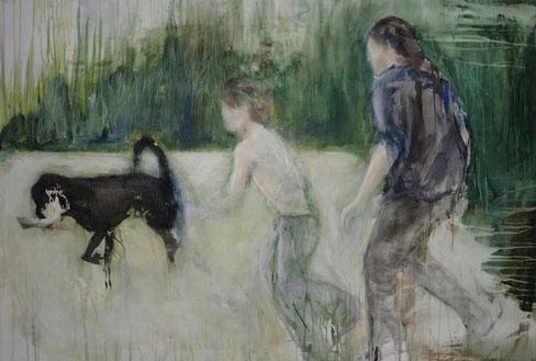 Ich hab`s, Acryl auf Baumwollgewebe, 100 x 150 cm, 2008