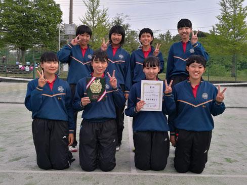 女子第3位 加茂中学校