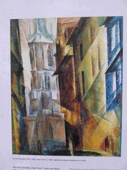 Roter Turm, Bild von Lyonel Feininger, Foto: Weil
