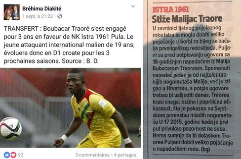 Traorés vermeintlichen Transfer nach Kroatien hatten die Medien bereits vermeldet