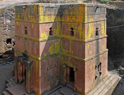 世界遺産「ラリベラの岩窟教会群(エチオピア)」、聖ゲオルギウス教会