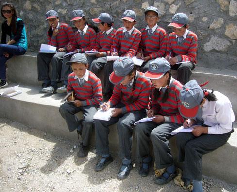 Elèves participants au cours de Xavier en 2012
