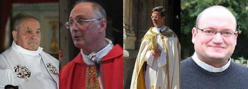 Les abbés PREVEL, RENAULT, BOZO et LEGER