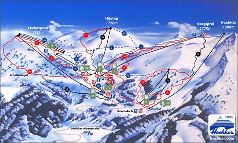 Skigebiet Hochkar-Göstling   (ca. 30 Min. Fahrzeit)