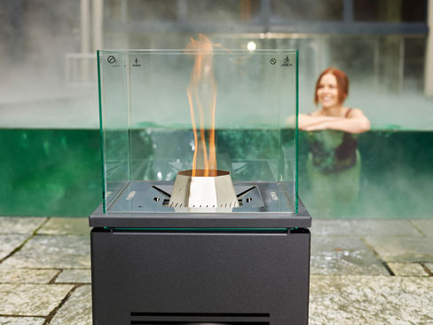 Pelmondo Feuermöbel Pellets Cube Outdoor Swimmingpool Terrasse Outdoorliving Haus Stamp Seeth