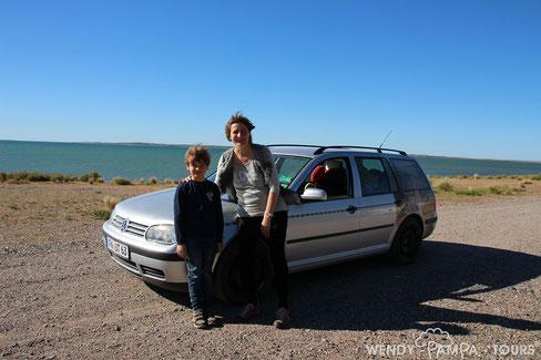 Wendy auf Erkundungstour auf der Ruta 1 in Süd-Patagonien/Argentinien - 2016