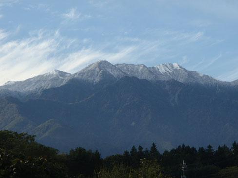 鳳凰山 雪化粧