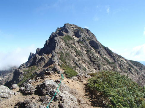 地蔵の頭付近からの横岳方面への道